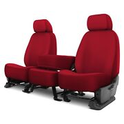 For Ford F-250 Super Duty 17 Genuine Neoprene 1st Row Red Custom Seat Covers