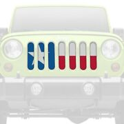 For Jeep Grand Cherokee 98-04 1-pc Texas Flag Style Perforated Main Grille