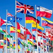 Euro 2021 5ft X 3ft World Country Flags - Official - Best Quality - With Eyelets