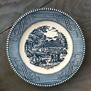 Currier And Ives Bread And Butter Plates Set Of 12