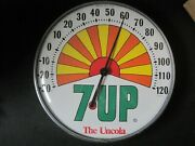 Vtg 1970's The Uncola 7 Up Peter Max Style Sunburst 12advertising Thermometer