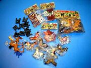 Vintage Made In Hong Kong Toy Farm Zoo Animals In Packs Plus Some Loose Stuff