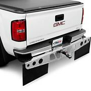For Ford F-150 04-14 Rockstar 2xl Bright Diamond Plate Hitch Mounted Mud Flaps