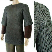 Large Chainmail Shirt Flat Riveted +flat Washer Chain Mail Haubergeon Armor Larp