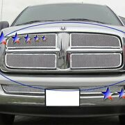 For Dodge Ram 1500 02-05 Apg 4-pc Chrome Polished 1.8 Mm Wire Mesh Main Grille