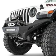 For Jeep Gladiator 20 Bumper Stealth Fighter Full Width Hammer Black Front Winch