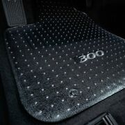 For Kia Spectra 01-04 Floor Mats 1st 2nd Row And Cargo Mat Folded Up Seats Clear