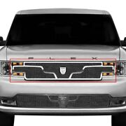 For Ford Flex 13-15 Main Grille Lexani 1-pc Zurich Style Black Mesh Main Grille