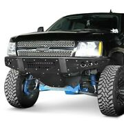For Chevy Tahoe 07-13 Bumper Stealth Full Width Black Powder Coat Front