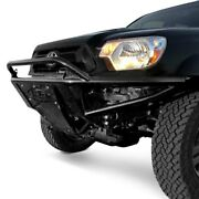 For Toyota Tacoma 05-15 Bumper Stealth Full Width Black Powder Coat Front