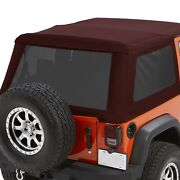 For Jeep Wrangler Jk 18 Trektop Nx Glide Crushed Red Pepper Convertible Soft Top
