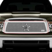For Toyota Tundra 10-13 Rbp 1-pc Rx-1 Series Chrome Dual Weave Mesh Main Grille