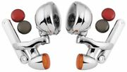 Letric Lighting Passing Lamps With Brackets And Turn Signals Chrome/black 4.5