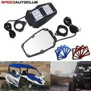 1.75and039and039 Utv Led Lights Rear View Side Mirrors For Polaris Ranger Rzr 900 1000 Xp