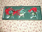 Marquis Waterford Star Wishes Ornaments Set Of 3, Love, Joy, And Peace Ornaments