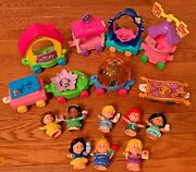 Disney Princess Parade Train 8 Floats Fisher Price Little People Lot Toy Figures