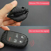 Car Key Case Cover Fob For Dodge Journey 2011-2020 Carbon Fiber Look Accessories