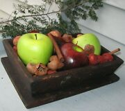 Antique Wooden Apple/fruit Box W/canted Sides Small Square Nails Smaller Size