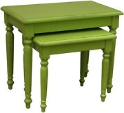 Trade Winds Raffles Nesting Tables Nested Traditional Antique Painted Appl