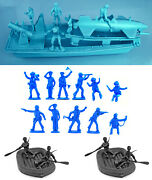 Wwii Naval Bundle - Atlantic W Recasts By Ideal And Marx 54mm And 60mm Toy Soldiers