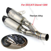 For Ducati Diavel 1200 Motorcycle Exhaust System Muffler Baffle Escape Tip Pipe