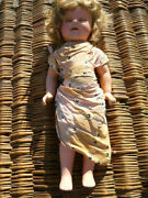 Very Early Ideal Shirley Templeandnbsp 20 Andldquo Compo Doll With Dressandnbsp Cop Nandt Very Rare