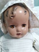 27 Composition Baby Doll Miracle On 34th Street With Markings At Back Of Neck