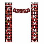 Christmas Decorations Welcome Xmas Sign Banners For Front Door/porch Decor Party