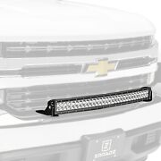 For Chevy Silverado 1500 Ld 19 Light Bar Front Bumper Bolt-on 180w Curved Dual