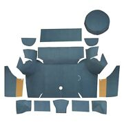 For Ford Mustang 67-68 Trunk Mat Essex Replacement Die Cut Dark Slate Cargo Area