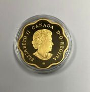 2020 20 Canadian Gold Plated Silver Iconic Maple Leaf Proof W Cap Box And Coa