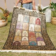 Yilong 4and039x6and039 Handcraft Garden Scene Silk Rug Carpet Hand Knotted Tapestry 0652