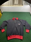 Polo Vintage Red Cookie Pullover Sweater Mens Medium Hong Kong 80andrsquos