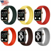 Solo Loop Elastic Belt Silicone Strap For Apple Watch 6 Se 5 4 3 2 1 38 40 42 44