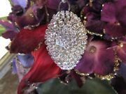 Oh So Chic Vintage Clear Rhinestone Jewelry Christmas Ornament Ab Button Lot C