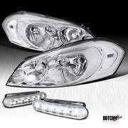 2006-2015 Chevy Impala 2006-2007 Monte Carlo Clear Headlights+led Fog Lamps