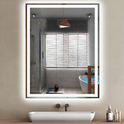 Pexfix Led Wall Mounted Mirror Anti-fog Frameless Explosionproof Lighted Backlit