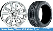 Ssr Winter Alloy Wheels And Snow Tyres 20 For Bentley Continental Gt/gtc 03-10