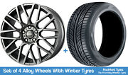 Momo Winter Alloy Wheels And Snow Tyres 19 For Mercedes Gla-class [x156] 14-19