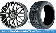 Momo Winter Alloy Wheels And Snow Tyres 19 For Skoda Superb [mk3] 15-20