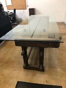 Carpenters Vintage Workbench Dining Table With 2 Vices And Large Drawer