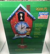 Peanuts Cuckoo Clock New Plays Linusandlucy Each Hour. New With Manual Orig Box
