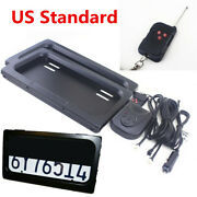 2x Usa Standard Shutter Cover Up Electric Blinds License Plate Frame+remote Set