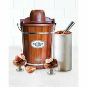 Vintage 6-quart Electric Bucket Ice Cream Maker W/ Easy-carry Hand + Recipes Wow
