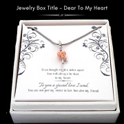 For My Sister-in-law / 3d Rose Gold Platinum Plated Rose Charm/message Card