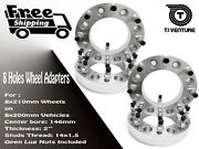 4pc 8x200 To 8x210 Wheel Spacer Adapter 2 Inch Thick Fits Ford F-350 Dually