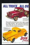 1947 Willys Jeep Truck Car Dealer Advertising Postcard And03947 Overland Trucks