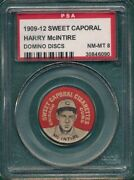 1909-12 Sweet Caporal Domino Disc Baseball Pin Harry Mcintire Chicago Cubs Psa 8