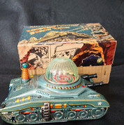 Antique Japanese Tin Toys Looping Space Tank Made By Diya With Box Operate M