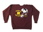 Vtg Peanuts Snoopy Washington Redskins Nfl Sweater Size M Made In Usa